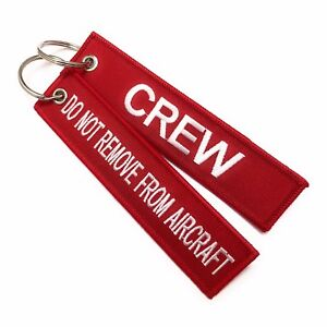 Crew Tag x 1 / Crew / Do Not Remove From Aircraft | Luggage Tag | Pilot Keychain