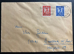 1949 Berlin East DDR Germany Slogan Cancel Cover To Seelbach