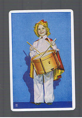 Playing Swap Cards  1  VINT  U.S.SHIRLEY TEMPLE  LITTLE DRUMMER GIRL  MINT  W589