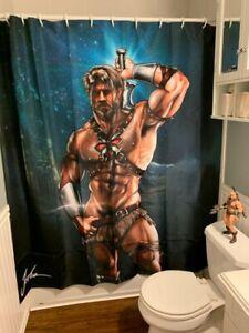 Licensed-Jorden-Arts-He-Man-Shower-Curtain-Superhero-MOTU-Gay-Butch-Fetish