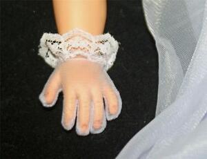 "NEW Sheer WHITE Wristlet Gloves w// Lace Trim For 18/"" 20/"" Miss Revlon Doll"
