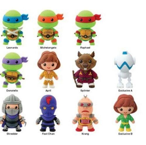 Teenage Mutant Ninja Turtles TMNT 3-D Keychain Keyring Complete Set of 11