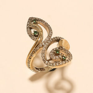 Turkish Women Filigree Emerald Ring 925 Sterling Silver