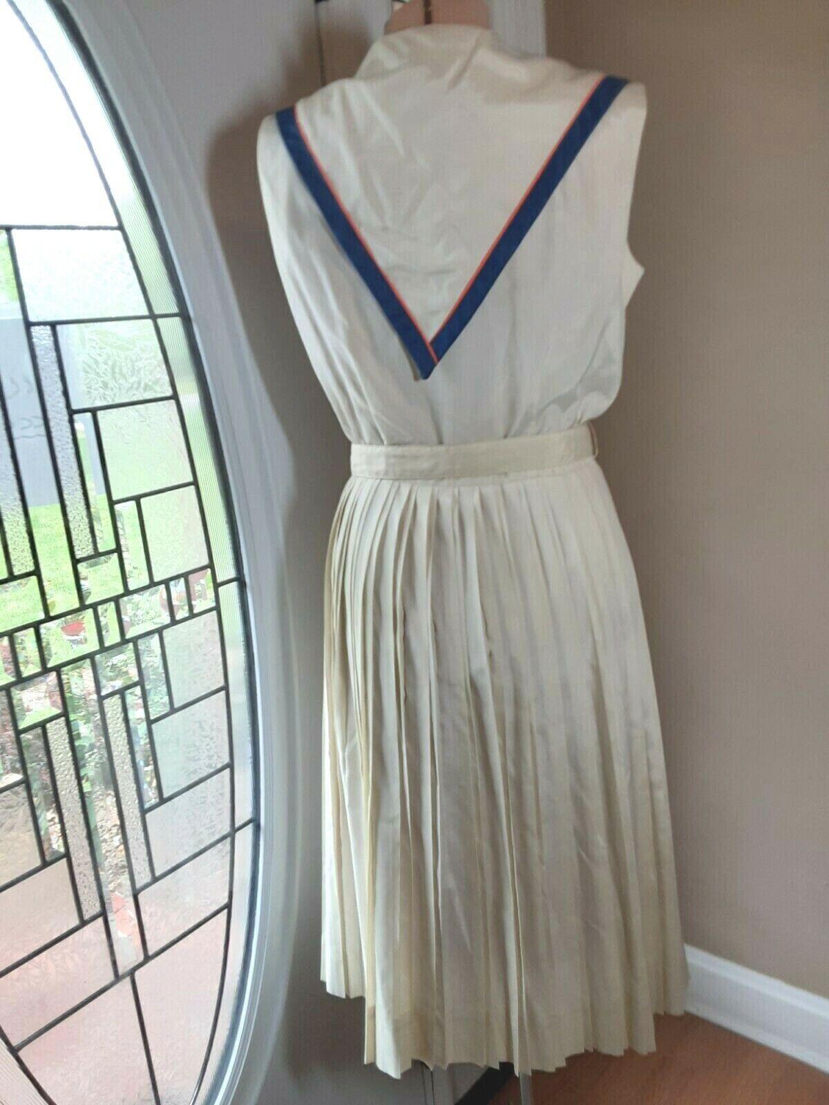 "Vintage 50s ""Norman Wiatt California"" DRESS Off-W… - image 6"
