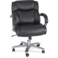 Safco Big Amp Tall Leather Mid Back Task Chair 3504bl
