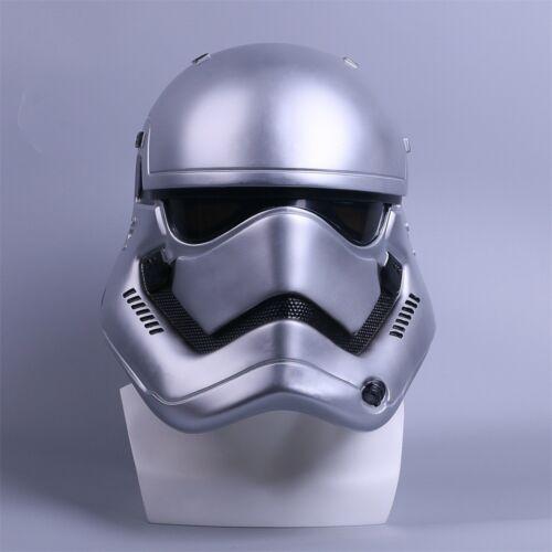 Star Wars Helmet Cosplay The Force Awakens Stormtrooper Helmet Handmade Silver