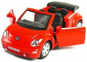 New-5-034-Volkswagen-New-Beetle-Convertible-1-32-diecast-model-toy-car-vw-Red
