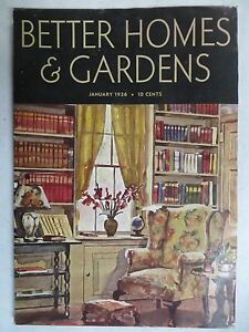 Better homes gardens magazine january 1936 robert carr Better homes and gardens current issue