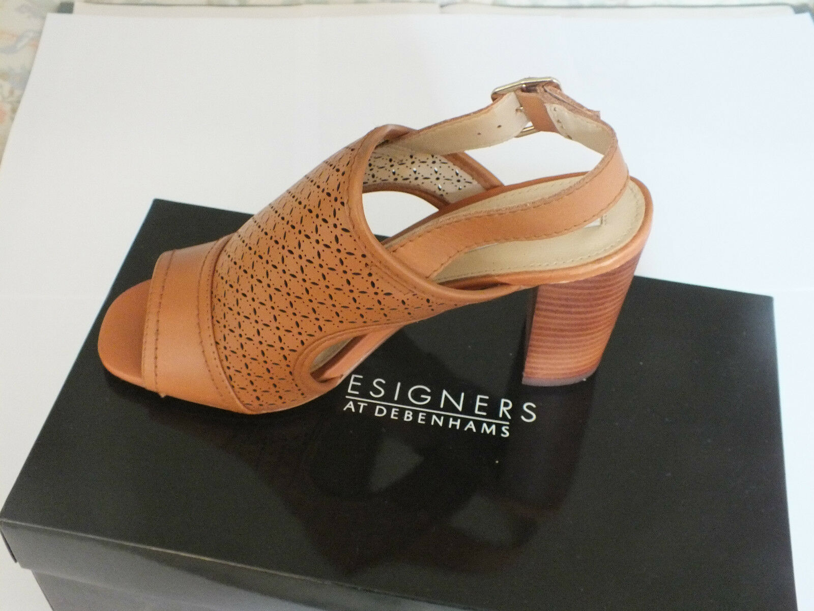 Summer Sandals - Open Toe High Heel  - Woman's - Tan      New   Free P & P
