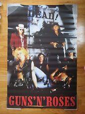 Vintage GUNS N' ROSES (GNR) DEAD! Poster SLASH AXEL ROSE DUFF McKAGAN