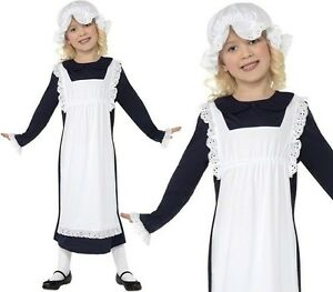Childs-Girls-Victorian-Maid-Girl-Fancy-Dress-Costume-Childrens-by-Smiffys-New