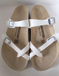 da5418b3a4c4 Birkenstock Mayari 071051 Size 39 L8M6 R Birko-Flor White Sandals