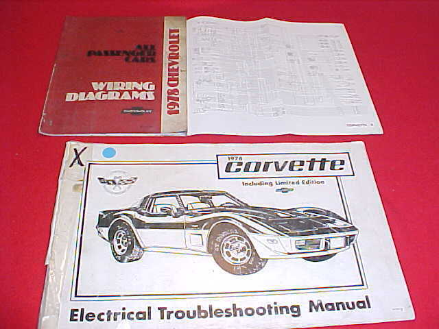 1978 ORIGINAL CORVETTE VETTE ELECTRICAL + WIRING DIAGRAMS ...