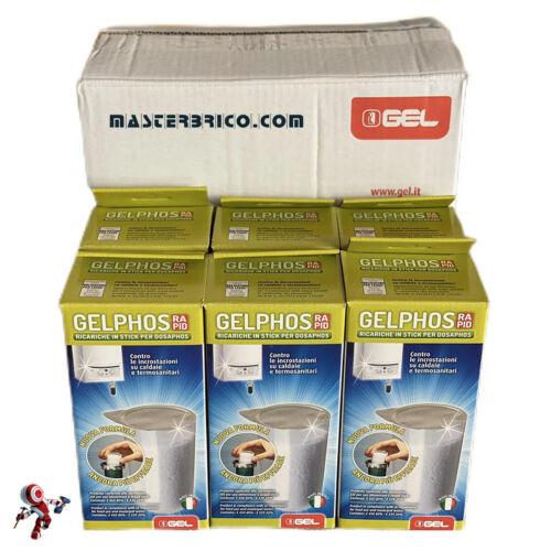 Gelphos rapid 8 ricariche confezione risparmio da 6pezzi polifosfati per caldaia