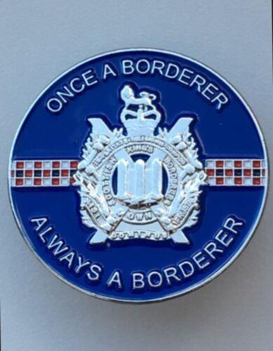 KOSB-B Colours Lapel Badge 3D 30mm Kings Own Scottish Borderers