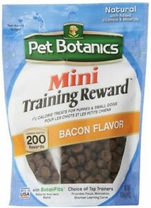 200 Mini Bacon Flavored Training Reward Treats For Puppies and Small Dogs New