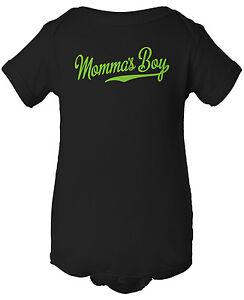 564ba4ad0 Momma's Boy Script Tail Bodysuit - Baseball Creeper One Piece Romper ...