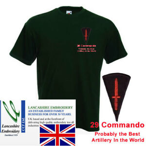 "29 Commando Probably The Best Artillery"" T Shirt Medium"