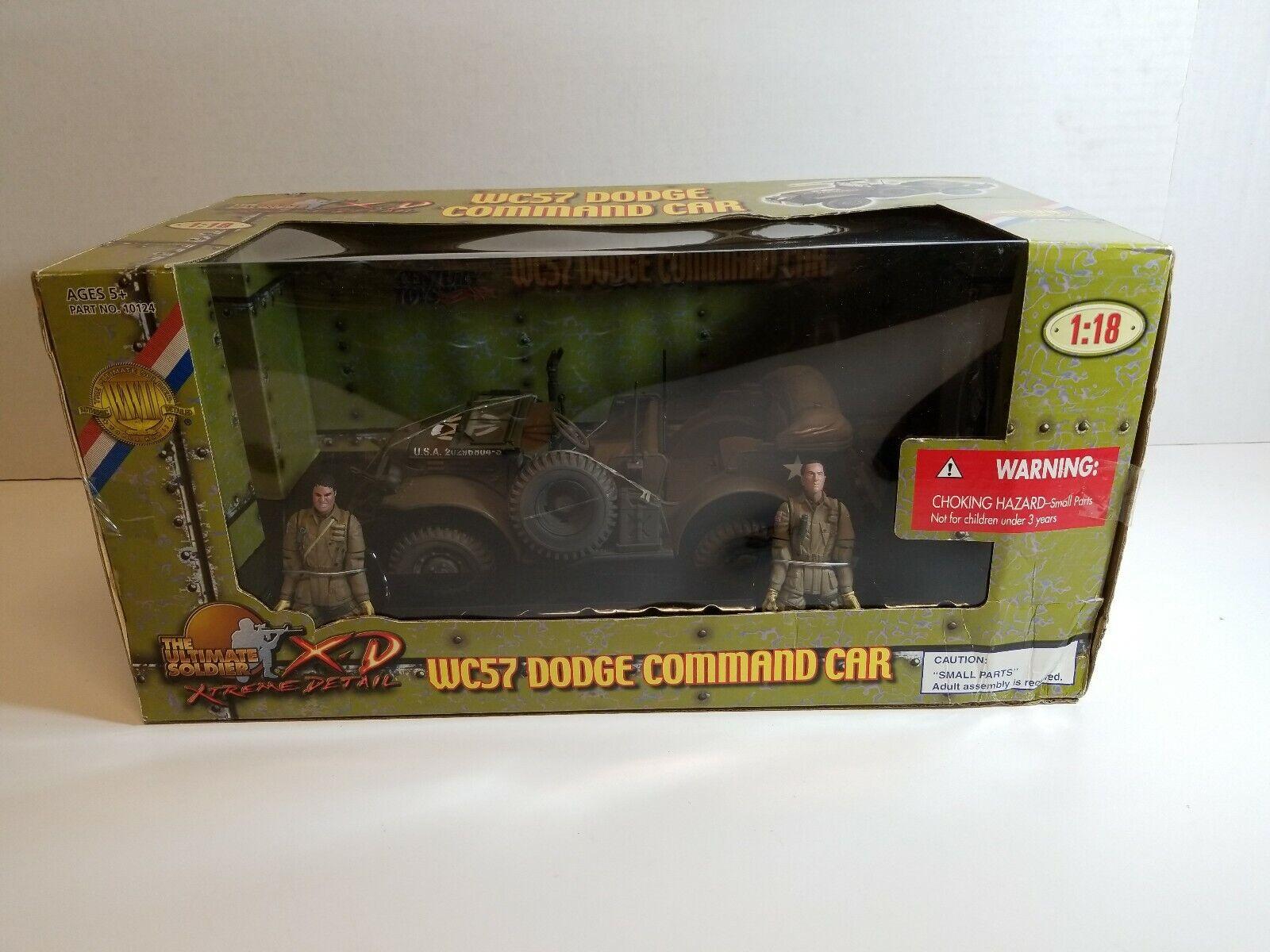 21st Century Juguetes 1 18 Ultimate Soldier WC57 Dodge comando Coche Sellado de fábrica