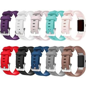 MEGA COLOR 10 PACK Large Wristband Band Strap Bracelet For FITBIT CHARGE 2