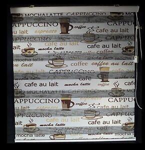 Cafe Motive DUO ROLLO Doppelrollo Zebrarollo verschidene Größen | eBay