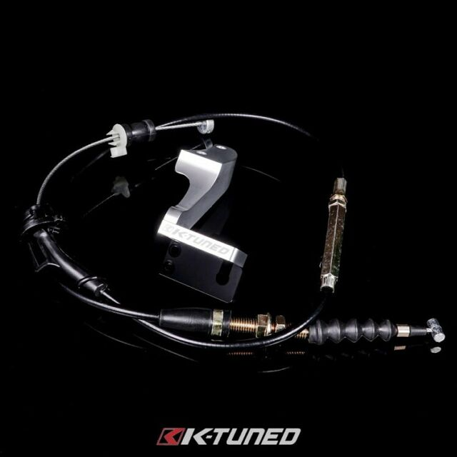 K-Tuned Center Feed Throttle Cable & JDM Bracket For 88-05