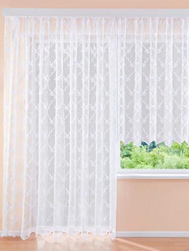 Gardine  Vorhang Höhe 175cm  breite  600cm  Store weiss Langstore
