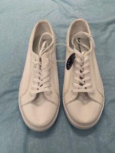 White Canvas Ortholite Fashion Sneakers