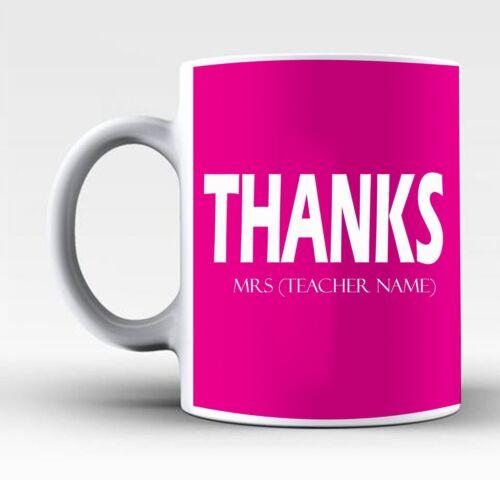 Personnalisé meilleur professeur Tasse Cadeau Retraite Merci cadeau de l/'élève