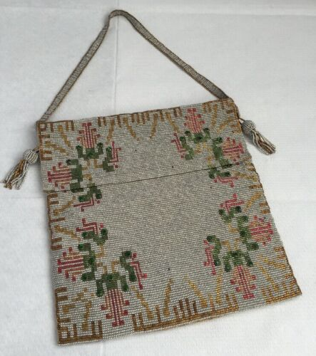 Fantastic Quality Art Deco Flapper Micro Beaded Evening Bag Purse Vintage Old
