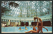 C1960s View of People in the Pool, Holiday Inn, Don Valley, Toronto, Canada