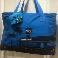 Trader Joe's Blue Insulated Tote Reusable Grocery Shopping Bag Extra Large