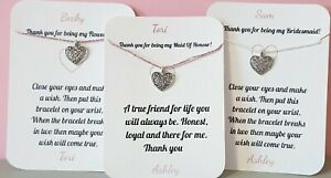 PERSONALISED-Thank-You-Bridesmaid-gift-Maid-Of-Honour-Bracelet-Card-Flower