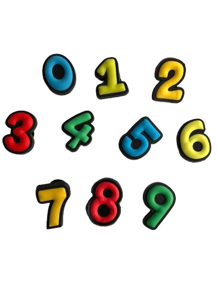 New 10 pc Shoe Charms FIT CROCS CLOG Numbers mix