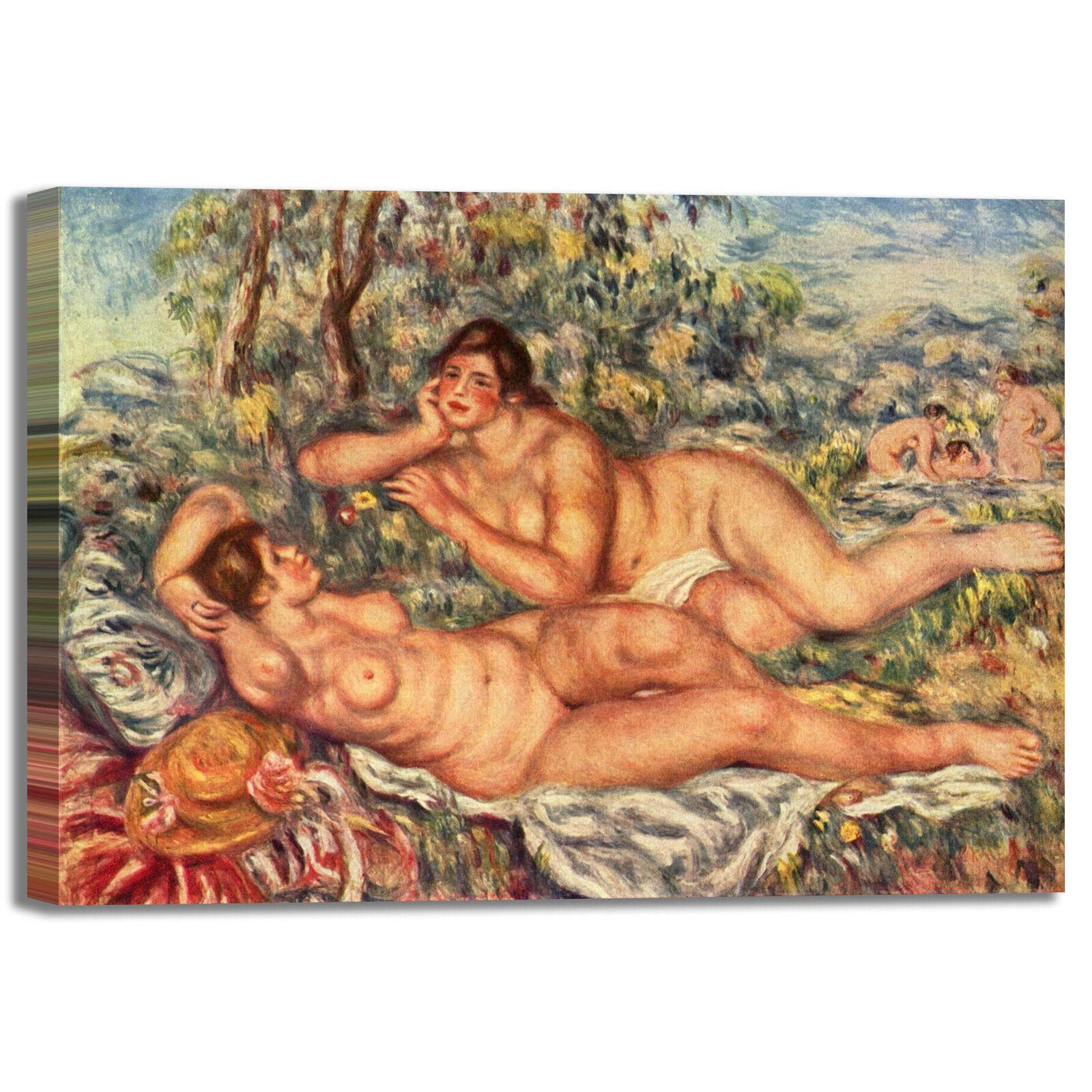 Renoir le bagnanti telaio design quadro stampa tela dipinto telaio bagnanti arRouge o casa 901082