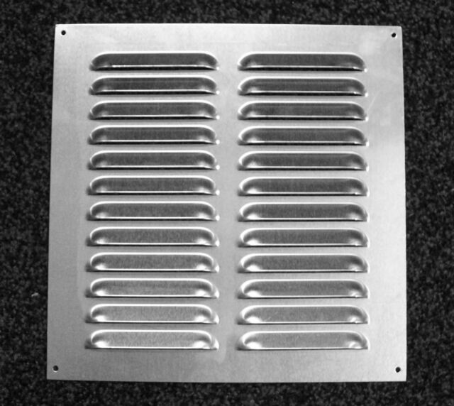 Polished Aluminium Air Vent 242 x 244mm - Silver