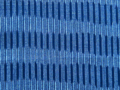 Ikat, Hand-Dyed, Hand-Woven Cotton. Navy Blue, India, Andhra, Artisan Fabric