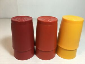 Lot-of-6-Tupperware-Tumblers-Cups-Harvest-Colors-6-Ounce-Series-1251