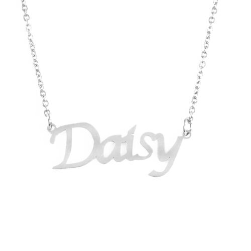 Daisy Nombre Collar Personalizado Personalizado Navidad Plata Chapado en Oro 18ct