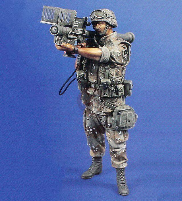 Verlinden 120mm 1 16 FIM-92 Stinger Stinger Stinger Gunner 82nd Airborne Firing in Gulf War 597 b97