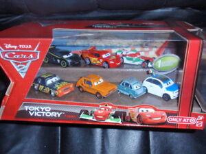 CARS-2-TOKYO-VICTORY-7-PACK-PROFESSOR-Z-CLUTCHENSON-Mattel-Disney-Pixar