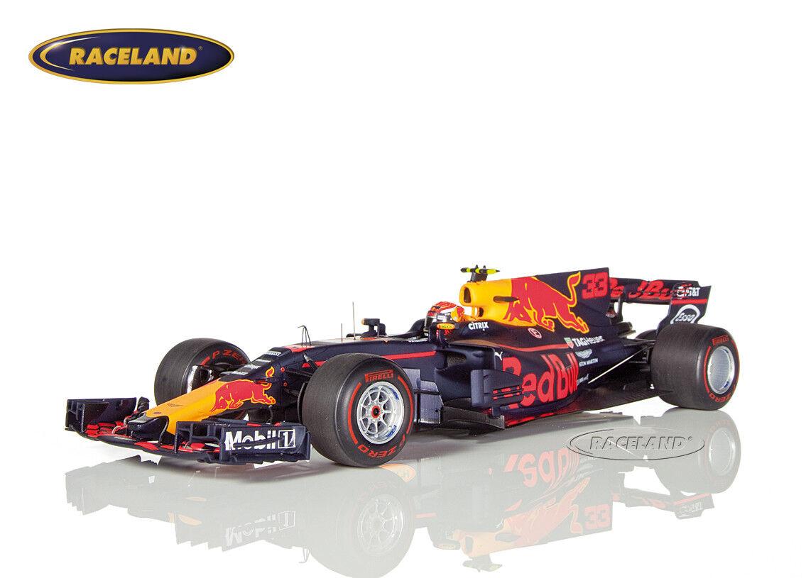 Rouge Bull Racing rb13 f1 Vainqueur GP Malaisie 2017 Max Verstappen Spark 1 18 18s311