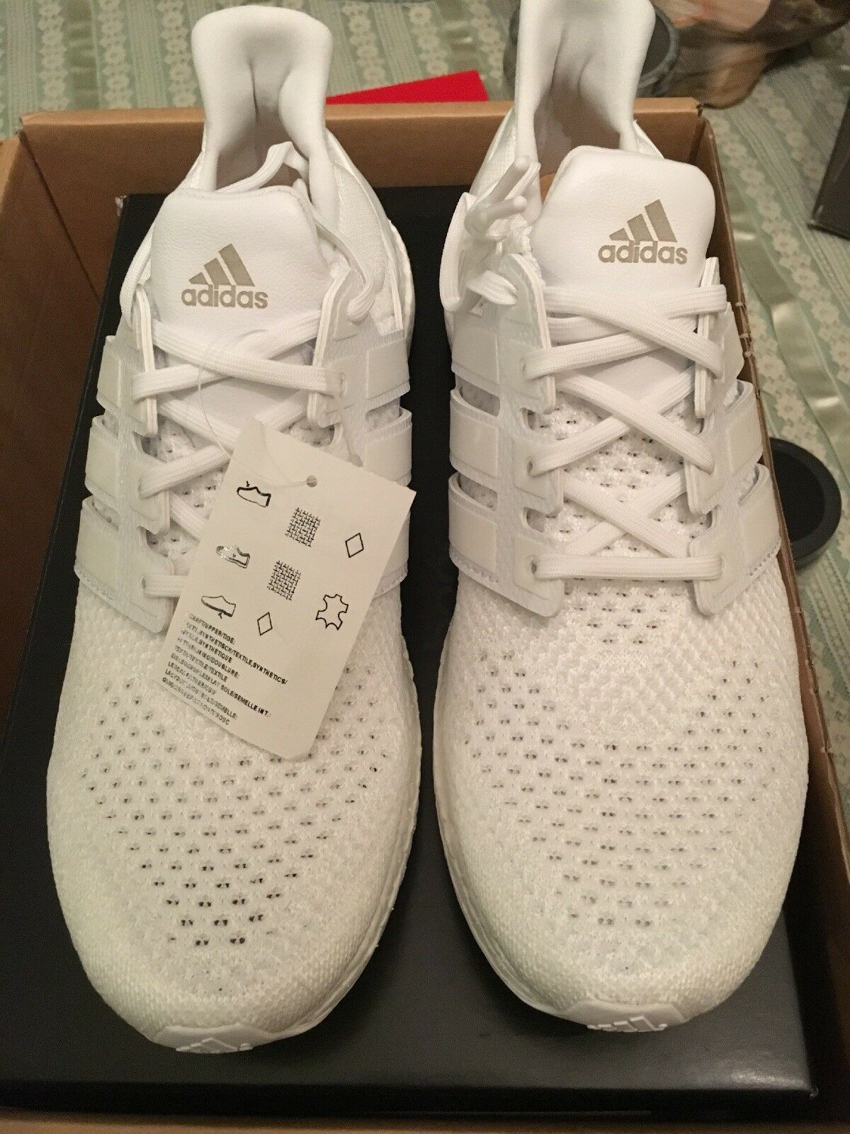 Adidas Ultra Boost Collective J&D Triple White AF5826 Size 11.5 BRAND NEW IN BOX