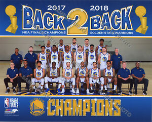 02ad8f2f5f2 Golden State Warriors 2018 NBA Finals Champions Team Sit Down 8x10 ...