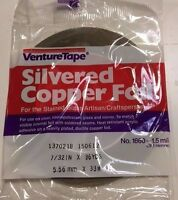 7/32 Silvered Copper Foil - Stained Glass Copper Foil By Venture Tape - 1 Roll