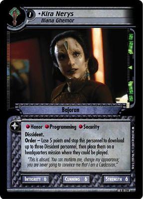 Iliana Star Trek CCG Necessary Evil 4R119 Kira Nerys