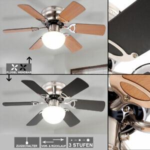 Deckenventilator mit Fernbedienung 60W LED Beleuchtung Lüfter 5 Flügel  Leuchte