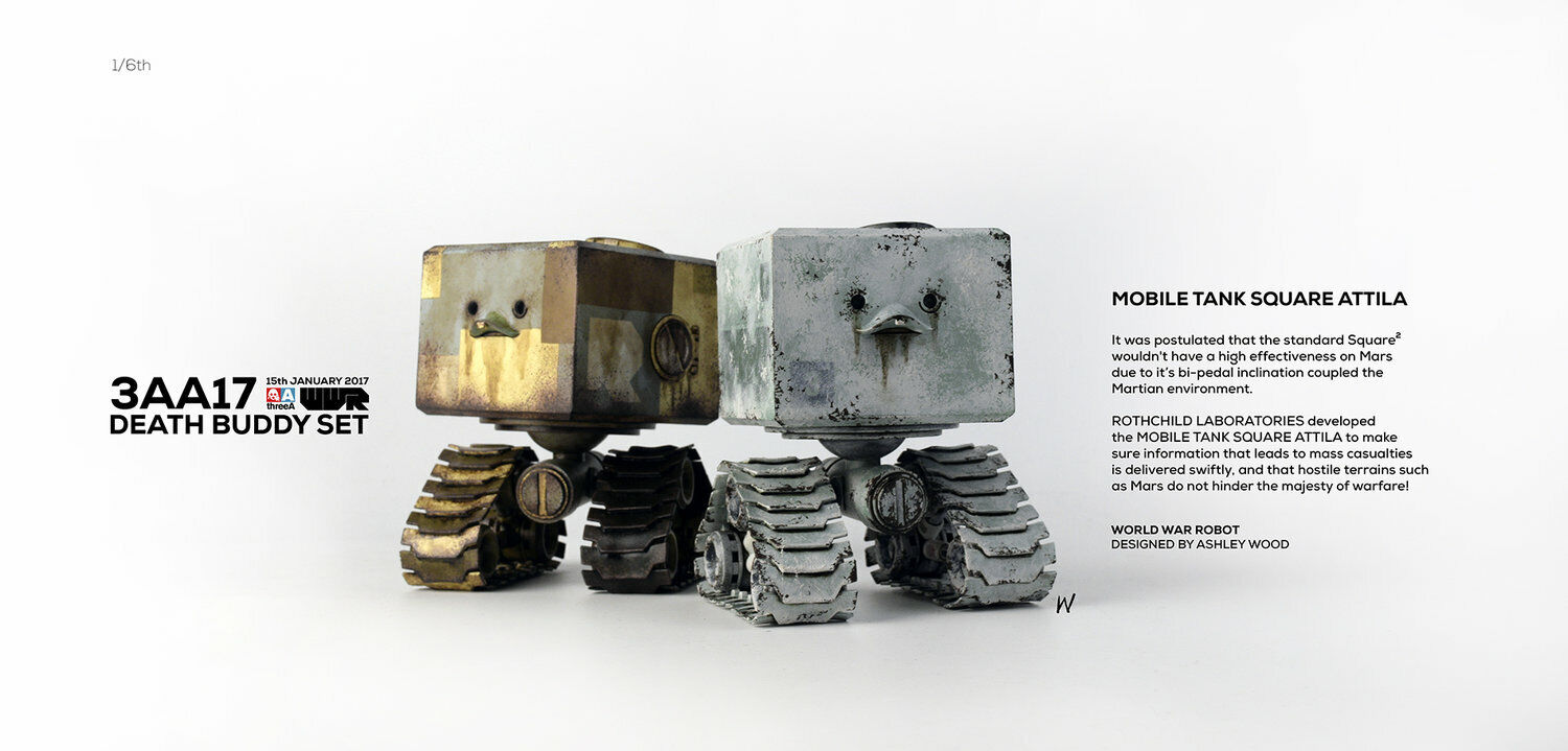 ThreeA WWR Mobile Tank Square Attila DEATH BUDDY SET 3A 3A 3A 2017 3AA Membership 2a7bee