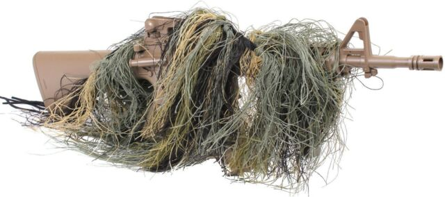 Camo Ghillie Lightweight Sniper Rifle Wrap Cover Hunting Concealment Bow