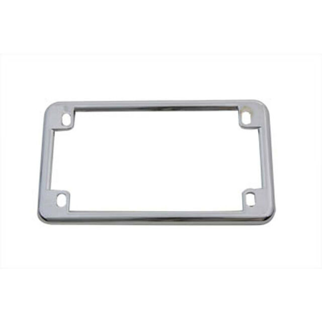 V-twin Manufacturing Motorcycle License Plate Frame Chrome 42-0210 ...